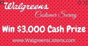 Walgreens Survey Winners
